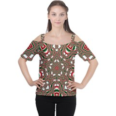 Christmas Kaleidoscope Women s Cutout Shoulder Tee