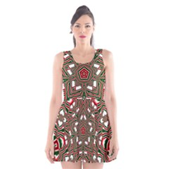 Christmas Kaleidoscope Scoop Neck Skater Dress