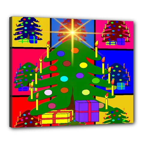 Christmas Ornaments Advent Ball Canvas 24  X 20