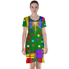 Christmas Ornaments Advent Ball Short Sleeve Nightdress