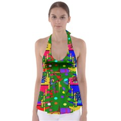 Christmas Ornaments Advent Ball Babydoll Tankini Top