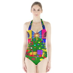 Christmas Ornaments Advent Ball Halter Swimsuit