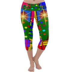 Christmas Ornaments Advent Ball Capri Yoga Leggings