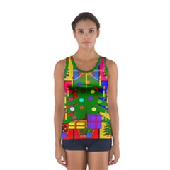 Christmas Ornaments Advent Ball Women s Sport Tank Top