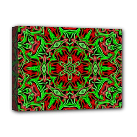 Christmas Kaleidoscope Pattern Deluxe Canvas 16  x 12