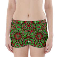 Christmas Kaleidoscope Pattern Boyleg Bikini Wrap Bottoms