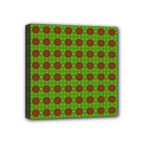 Christmas Paper Wrapping Patterns Mini Canvas 4  x 4