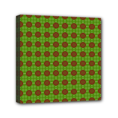 Christmas Paper Wrapping Patterns Mini Canvas 6  x 6