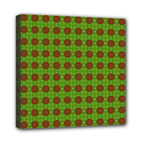 Christmas Paper Wrapping Patterns Mini Canvas 8  X 8