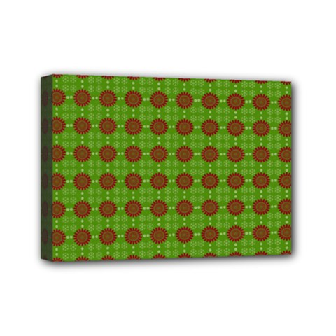 Christmas Paper Wrapping Patterns Mini Canvas 7  x 5