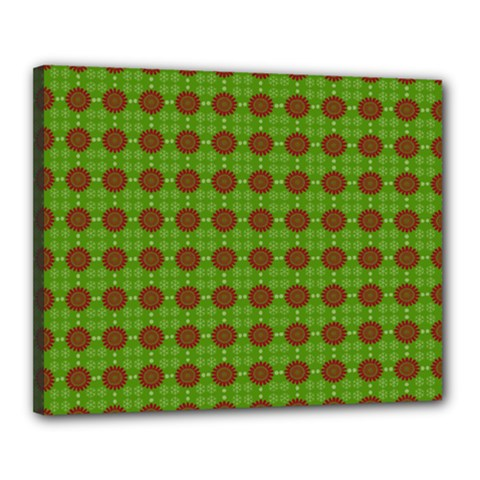 Christmas Paper Wrapping Patterns Canvas 20  x 16