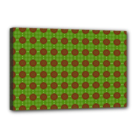 Christmas Paper Wrapping Patterns Canvas 18  x 12