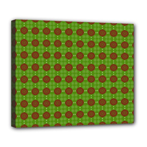 Christmas Paper Wrapping Patterns Deluxe Canvas 24  x 20