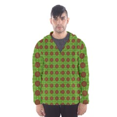 Christmas Paper Wrapping Patterns Hooded Wind Breaker (men)