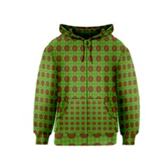Christmas Paper Wrapping Patterns Kids  Zipper Hoodie