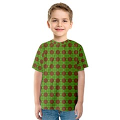 Christmas Paper Wrapping Patterns Kids  Sport Mesh Tee
