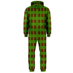 Christmas Paper Wrapping Patterns Hooded Jumpsuit (men)