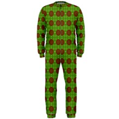 Christmas Paper Wrapping Patterns Onepiece Jumpsuit (men)