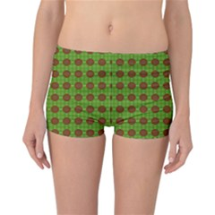 Christmas Paper Wrapping Patterns Reversible Bikini Bottoms