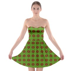 Christmas Paper Wrapping Patterns Strapless Bra Top Dress