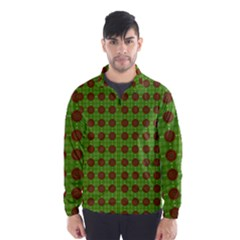 Christmas Paper Wrapping Patterns Wind Breaker (Men)