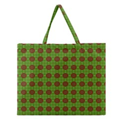 Christmas Paper Wrapping Patterns Zipper Large Tote Bag