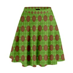 Christmas Paper Wrapping Patterns High Waist Skirt