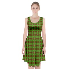 Christmas Paper Wrapping Patterns Racerback Midi Dress