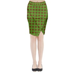 Christmas Paper Wrapping Patterns Midi Wrap Pencil Skirt