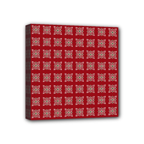 Christmas Paper Pattern Mini Canvas 4  X 4