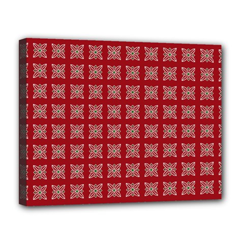 Christmas Paper Pattern Canvas 14  x 11