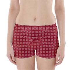 Christmas Paper Pattern Boyleg Bikini Wrap Bottoms