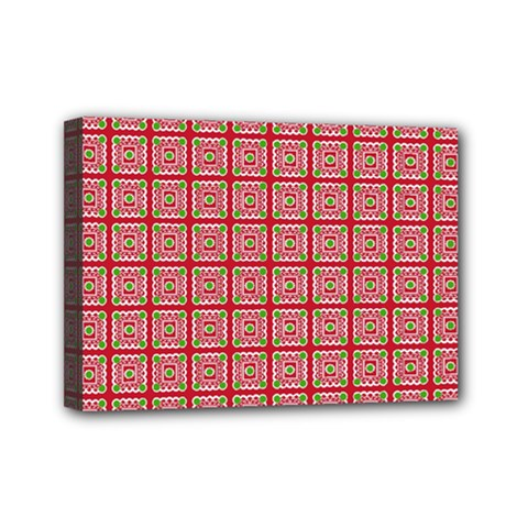 Christmas Paper Wrapping Pattern Mini Canvas 7  x 5