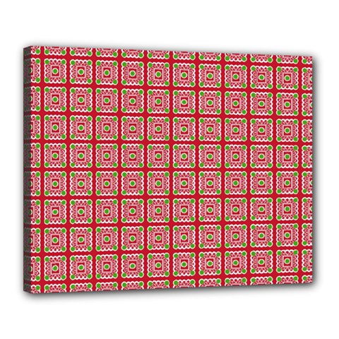 Christmas Paper Wrapping Pattern Canvas 20  x 16