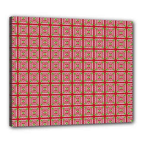 Christmas Paper Wrapping Pattern Canvas 24  x 20