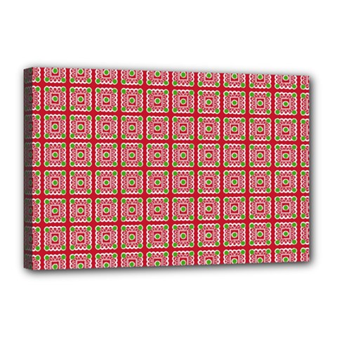 Christmas Paper Wrapping Pattern Canvas 18  x 12