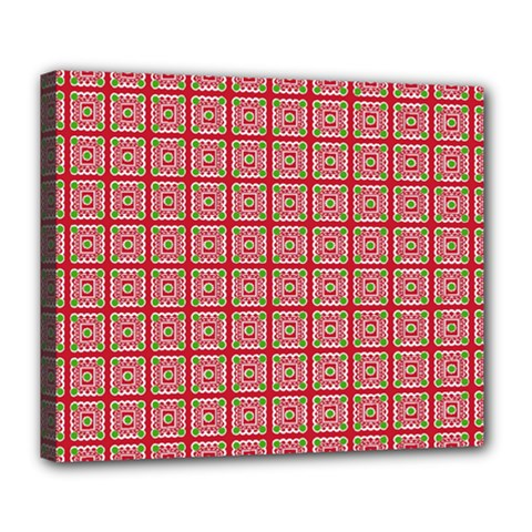 Christmas Paper Wrapping Pattern Deluxe Canvas 24  X 20