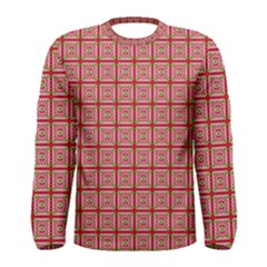 Christmas Paper Wrapping Pattern Men s Long Sleeve Tee