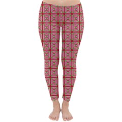 Christmas Paper Wrapping Pattern Classic Winter Leggings