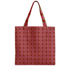 Christmas Paper Wrapping Pattern Zipper Grocery Tote Bag