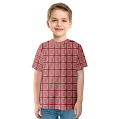 Christmas Paper Wrapping Pattern Kids  Sport Mesh Tee