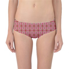 Christmas Paper Wrapping Pattern Classic Bikini Bottoms