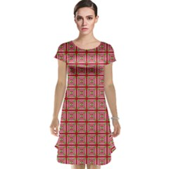 Christmas Paper Wrapping Pattern Cap Sleeve Nightdress