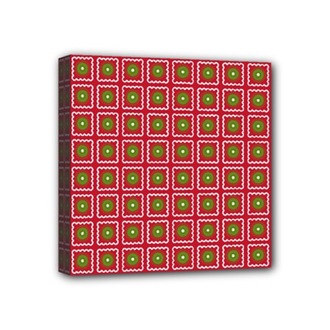 Christmas Paper Wrapping Mini Canvas 4  X 4
