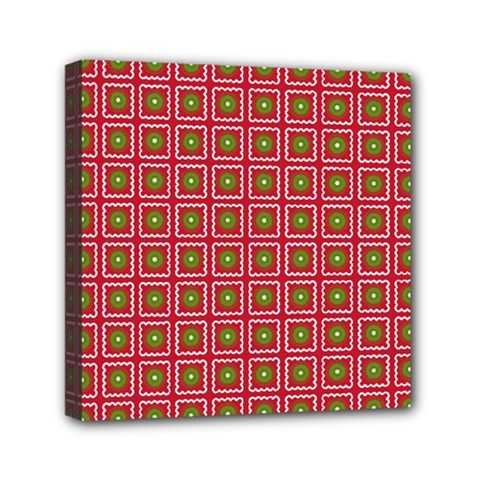 Christmas Paper Wrapping Mini Canvas 6  X 6