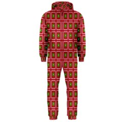 Christmas Paper Wrapping Hooded Jumpsuit (Men)