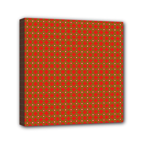 Christmas Paper Wrapping Paper Pattern Mini Canvas 6  x 6