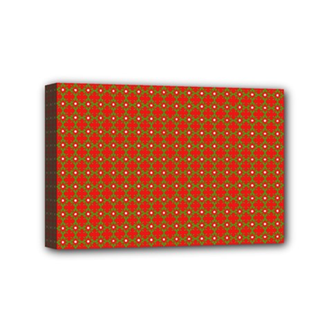 Christmas Paper Wrapping Paper Pattern Mini Canvas 6  x 4