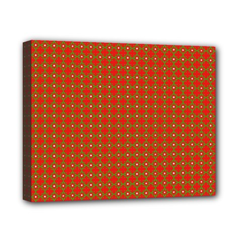 Christmas Paper Wrapping Paper Pattern Canvas 10  x 8