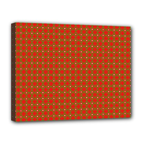 Christmas Paper Wrapping Paper Pattern Canvas 14  X 11